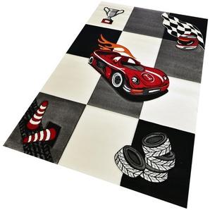 Teppich in Grau/Rot/Schwarz Giddens