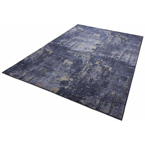 MINT RUGS Teppich Golden Gate, rechteckig, 10 mm Höhe, Velours, Kurzflor, Wohnzimmer 2, 80x150 cm, blau Kinder Bunte Kinderteppiche Teppiche