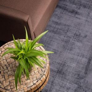 Teppich grau 140 x 200 cm Kurzflor GESI