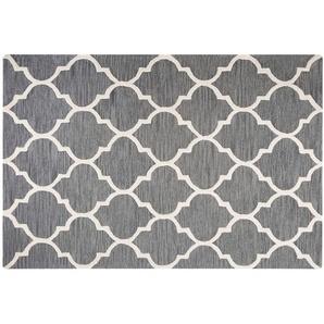 Teppich grau 160 x 230 cm marokkanisches Muster Kurzflor YALOVA