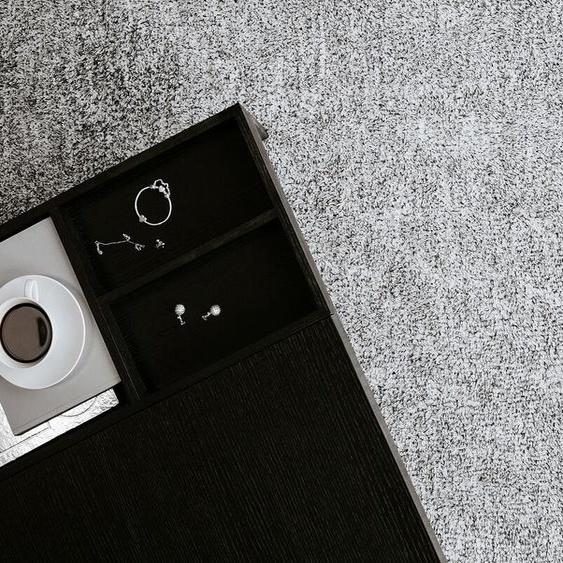 Teppich grau meliert 140 x 200 cm Shaggy DEMRE