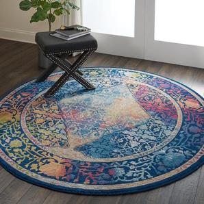 Teppich Holbeach in Blau