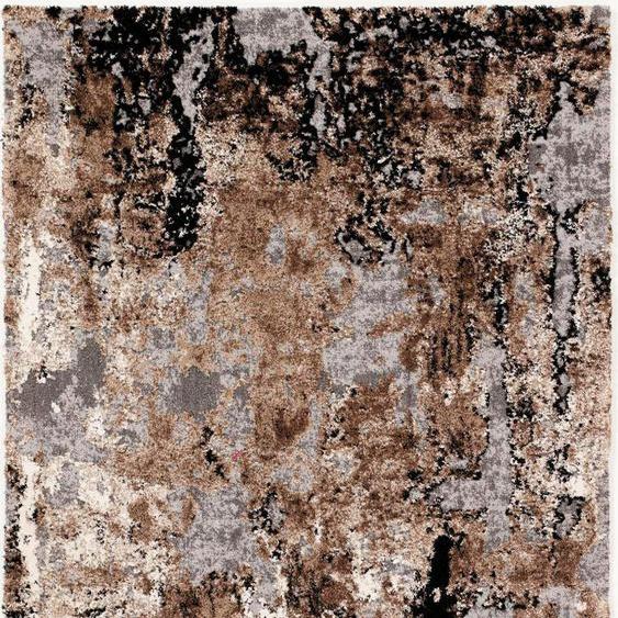 Teppich, Juwel Liray, OCI DIE TEPPICHMARKE, rechteckig, Höhe 20 mm, maschinell gewebt 32, 240x290 cm, mm braun Moderne Teppiche