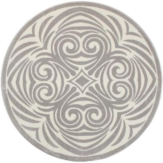 Teppich, Kusma, andas, rund, Höhe 11 mm, maschinell gewebt 10 (Ø 190 cm), mm grau Kinder Bunte Kinderteppiche Teppiche