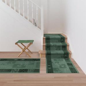 Teppich-Läufer auf Maß gekettelt   Akzent grün   Breite: 67 cm, Länge: 1400 cm
