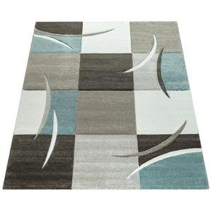 Teppich »Lara 235«, Paco Home, rechteckig, Höhe 18 mm, karierter Kurzflor in schönen Pastell-Farben, Wohnzimmer