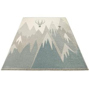 Teppich »Liana«, Lüttenhütt, rechteckig, Höhe 14 mm, Motiv: Ballon und Berge