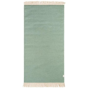 Teppich Liv aus Wolle in Hellgrün
