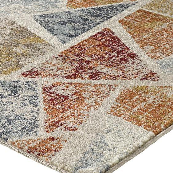 Teppich mit graphischem Dessin in aktuellen Erdtönen 5, ca. 200/285 cm bunt Moderne Teppiche Unisex