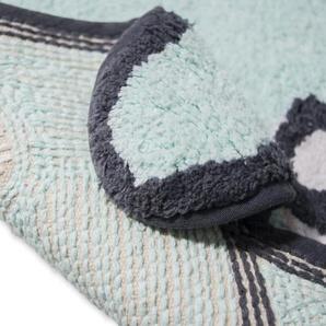 Teppich Patty aus Baumwolle in Grün