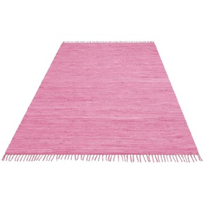 Teppich »Paul«, Lüttenhütt, rechteckig, Höhe 5 mm, handgewebt, beidseitig verwendbar, mit Fransen