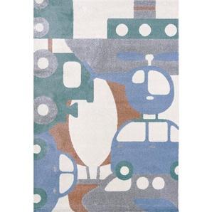 Teppich Puzzle Travel in Blau