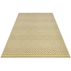 Teppich »Raute«, bougari, rechteckig, Höhe 8 mm, Flachgewebe, In- und Outdoor geeignet, Rauten-Design, Für Terasse und Balkon, Wohnzimmer
