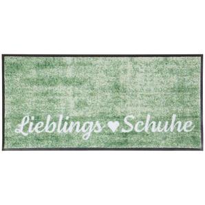 Teppich, rechteckig, 7 mm Höhe B/L: 35 cm x 75 cm, 1 St. grün Teppich Kurzflor-Teppiche Weitere Teppiche