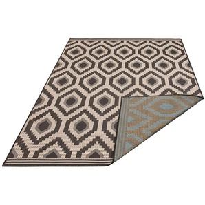 Teppich »Sabin«, Bruno Banani, rechteckig, Höhe 7 mm, In-und Outdoor geeignet, Wendeteppich, Wohnzimmer