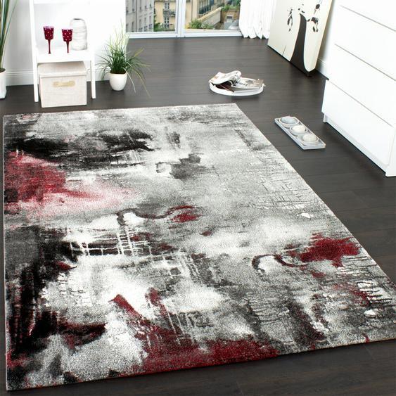Teppich Sandoval in Grau/Rot