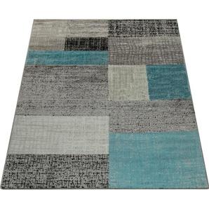 Teppich »Sinai 075«, Paco Home, rechteckig, Höhe 9 mm, Kurzflor, Patchwork Design, Wohnzimmer