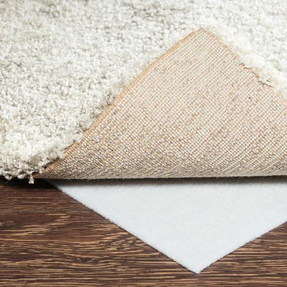 Teppich-Stopp für glatte Bodenbeläge - weiß - Synthethische Fasern   Möbel Kraft