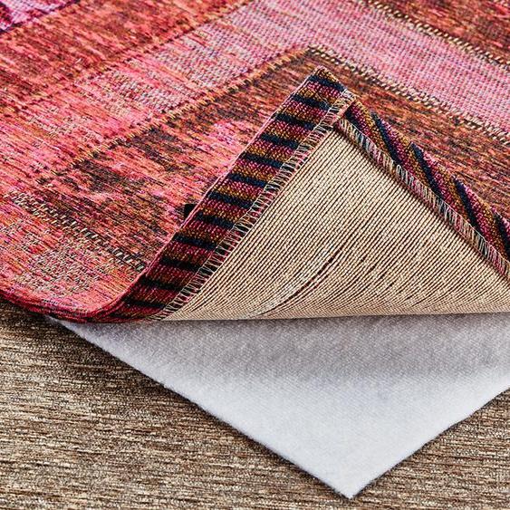 Teppich-Stopp für glatte und textile Bodenbeläge - weiß - Synthethische Fasern   Möbel Kraft