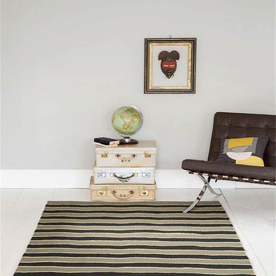 Teppich Torino Stripe, - bunt - 90 % Jute, 10 % Baumwolle - Teppiche