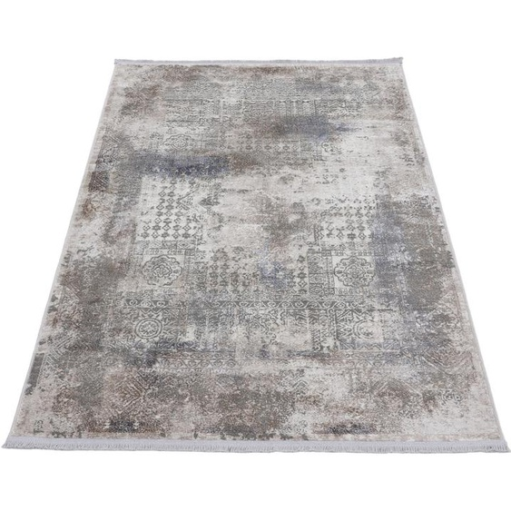 carpetfine Teppich Vintage Liyath, rechteckig, 8 mm Höhe, hoher Viskoseanteil, im Look, Wohnzimmer 200x290 cm, braun Kinder Bunte Kinderteppiche Teppiche