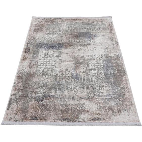 carpetfine Teppich Vintage Liyath, rechteckig, 8 mm Höhe, hoher Viskoseanteil, im Look, Wohnzimmer 200x500 cm, braun Kinder Bunte Kinderteppiche Teppiche