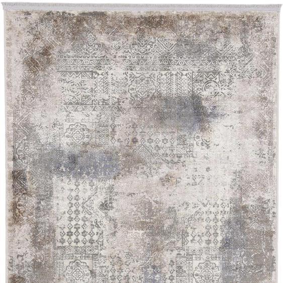 carpetfine Teppich Vintage Liyath, rechteckig, 8 mm Höhe, hoher Viskoseanteil, im Look, Wohnzimmer 240x340 cm, braun Kinder Bunte Kinderteppiche Teppiche