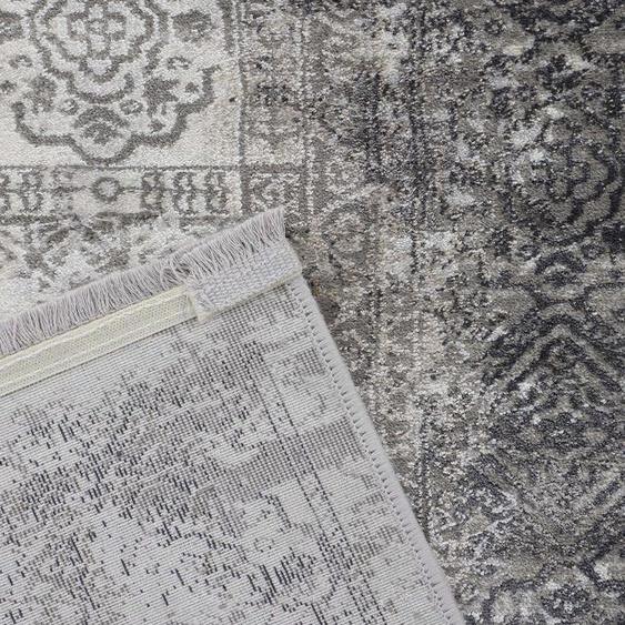 carpetfine Teppich Vintage Liyath, rechteckig, 8 mm Höhe, hoher Viskoseanteil, im Look, Wohnzimmer 240x340 cm, grau Kinder Bunte Kinderteppiche Teppiche