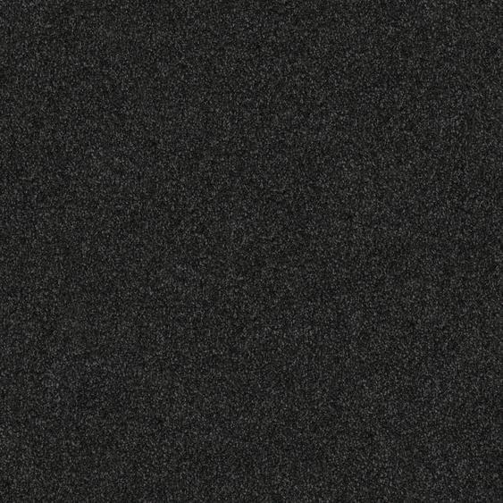 Teppichfliese Amalfi, quadratisch, 8 mm Höhe, schwarz, selbstliegend B/L: 50 cm x cm, 4 St. schwarz Teppichfliesen Bodenbeläge Bauen Renovieren
