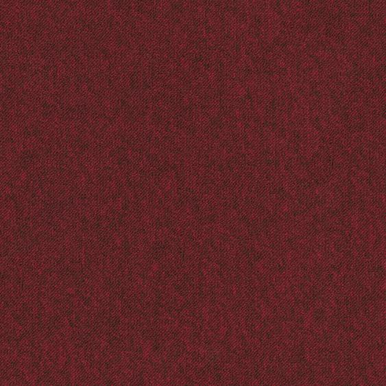 Teppichfliese City, quadratisch, 3 mm Höhe, selbstliegend B/L: 50 cm x cm, 4 St. rot Teppichfliesen Bodenbeläge Bauen Renovieren