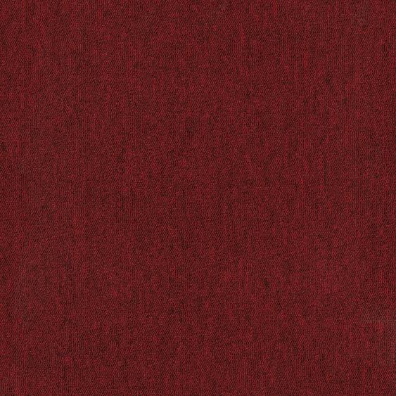 Teppichfliese Jersey, quadratisch, 3 mm Höhe, selbstliegend B/L: 50 cm x cm, 4 St. rot Teppichfliesen Bodenbeläge Bauen Renovieren