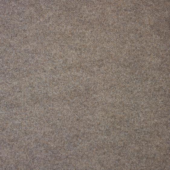 Teppichfliese Madison, quadratisch, 6 mm Höhe, beige, selbstliegend B/L: 50 cm x cm, 20 St. beige Teppichfliesen Bodenbeläge Bauen Renovieren