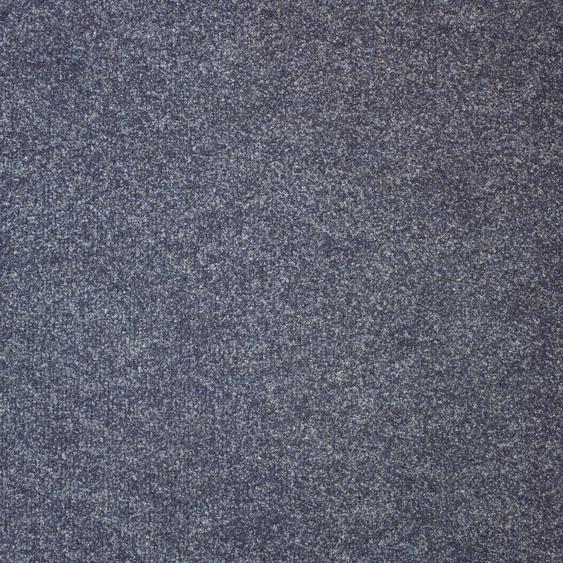 Teppichfliese Madison, quadratisch, 6 mm Höhe, blau, selbstliegend B/L: 50 cm x cm, 20 St. blau Teppichfliesen Bodenbeläge Bauen Renovieren