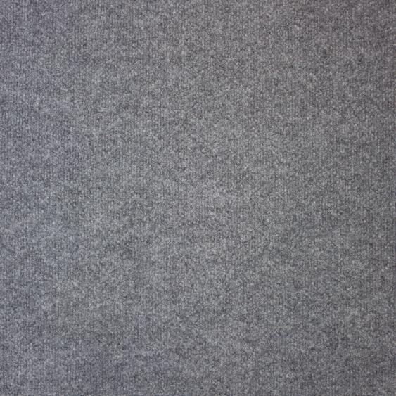 Teppichfliese Madison, quadratisch, 6 mm Höhe, grau, selbstliegend B/L: 50 cm x cm, 20 St. grau Teppichfliesen Bodenbeläge Bauen Renovieren