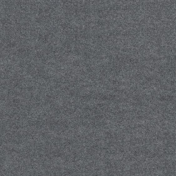 Teppichfliese Madison, quadratisch, 6 mm Höhe, grau, selbstliegend B/L: 50 cm x cm, 4 St. grau Teppichfliesen Bodenbeläge Bauen Renovieren
