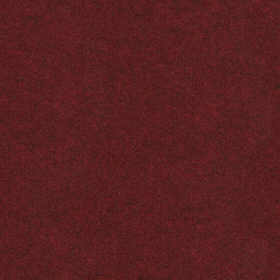 Teppichfliese Madison, quadratisch, 6 mm Höhe, rot, selbstliegend B/L: 50 cm x cm, 4 St. rot Teppichfliesen Bodenbeläge Bauen Renovieren