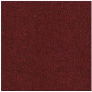 Teppichfliese »Madison rot«, 4 Stück (1 m²), selbstliegend