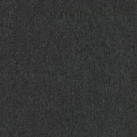 Teppichfliese Neapel, quadratisch, 3 mm Höhe, Anthrazit, selbstliegend B/L: 50 cm x cm, 4 St. grau Teppichfliesen Bodenbeläge Bauen Renovieren