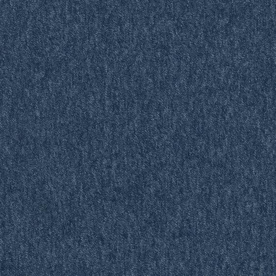 Teppichfliese Neapel, quadratisch, 3 mm Höhe, dunkelblau, selbstliegend, leicht austauschbar B/L: 50 cm x cm, 4 St. blau Teppichfliesen Bodenbeläge Bauen Renovieren