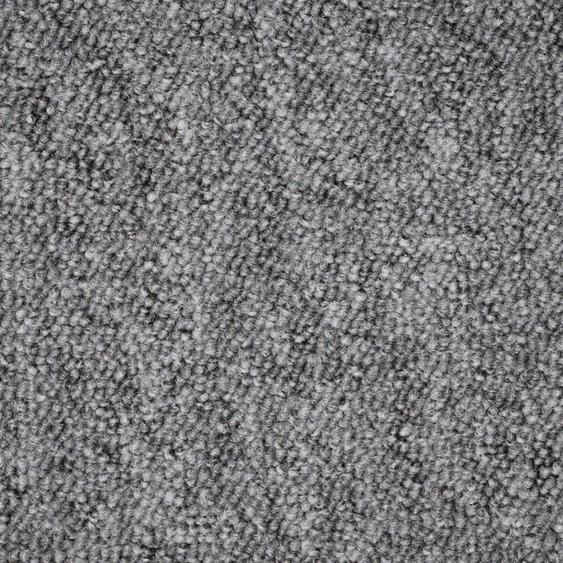 Teppichfliese Neapel, quadratisch, 6 mm Höhe, grau, selbstliegend B/L: 50 cm x cm, 20 St. grau Teppichfliesen Bodenbeläge Bauen Renovieren