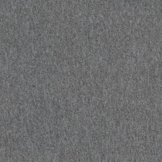 Teppichfliese Neapel, quadratisch, 6 mm Höhe, grau, selbstliegend B/L: 50 cm x cm, 4 St. grau Teppichfliesen Bodenbeläge Bauen Renovieren