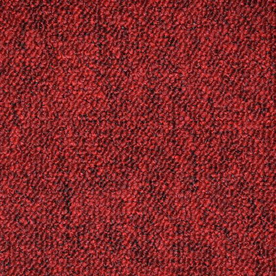 Teppichfliese Neapel, quadratisch, 6 mm Höhe, rot, selbstliegend B/L: 50 cm x cm, 20 St. rot Teppichfliesen Bodenbeläge Bauen Renovieren