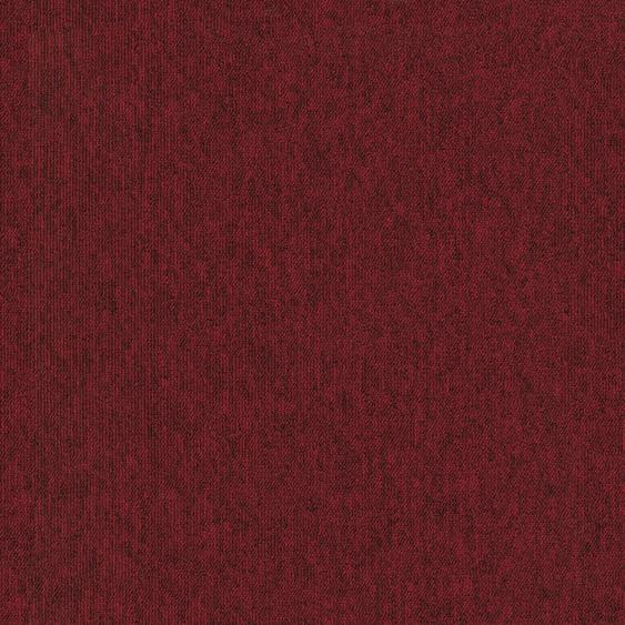 Teppichfliese Neapel, quadratisch, 6 mm Höhe, rot, selbstliegend B/L: 50 cm x cm, 4 St. rot Teppichfliesen Bodenbeläge Bauen Renovieren