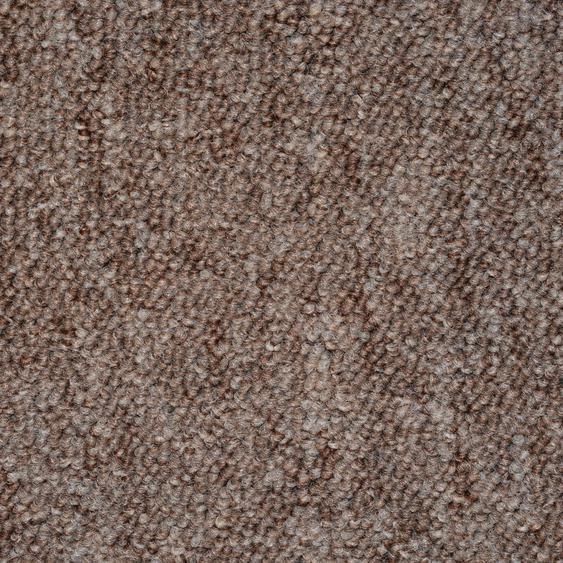 Teppichfliese Neapel, quadratisch, 6 mm Höhe, sand, selbstliegend B/L: 50 cm x cm, 20 St. braun Teppichfliesen Bodenbeläge Bauen Renovieren