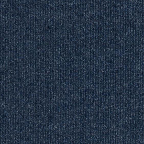 Teppichfliese Trend, quadratisch, 3 mm Höhe, selbstliegend B/L: 50 cm x cm, 4 St. blau Teppichfliesen Bodenbeläge Bauen Renovieren