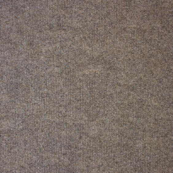 Teppichfliese Trend, quadratisch, 3 mm Höhe, selbstliegend, leicht austauschbar B/L: 50 cm x cm, 20 St. beige Teppichfliesen Bodenbeläge Bauen Renovieren