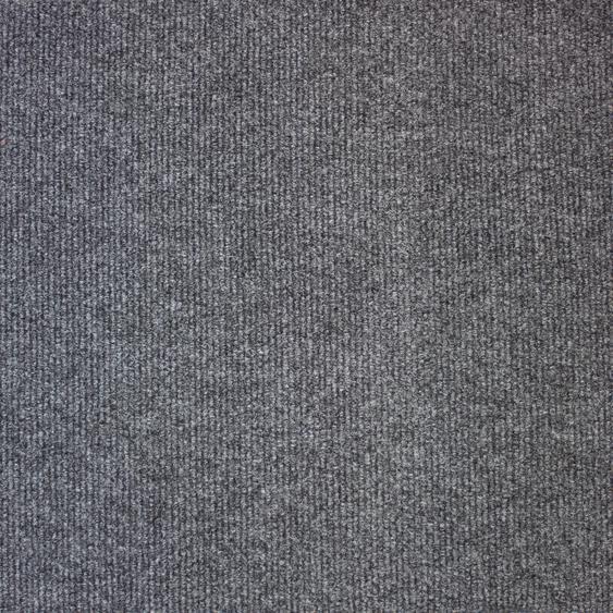 Teppichfliese Trend, quadratisch, 3 mm Höhe, selbstliegend, leicht austauschbar B/L: 50 cm x cm, 20 St. grau Teppichfliesen Bodenbeläge Bauen Renovieren