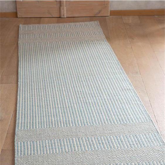 Teppichläufer Blue Ivory - bunt - 80 % Wolle, 20 % Baumwolle - Teppiche