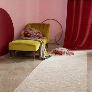 Teppichläufer Jute-Streifen - bunt - 60 % Wolle, 15 % Baumwolle, 25 % Jute - Teppiche