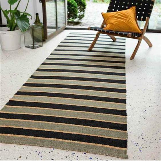 Teppichläufer Torino Stripe - bunt - 90 % Jute, 10 % Baumwolle - Teppiche